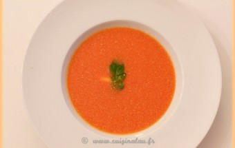 Soupe froide tomates poivrons gingembre