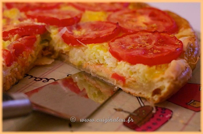 cuizinalau tarte aux poireaux saumon tomates et mascarpone cuizinalau. Black Bedroom Furniture Sets. Home Design Ideas
